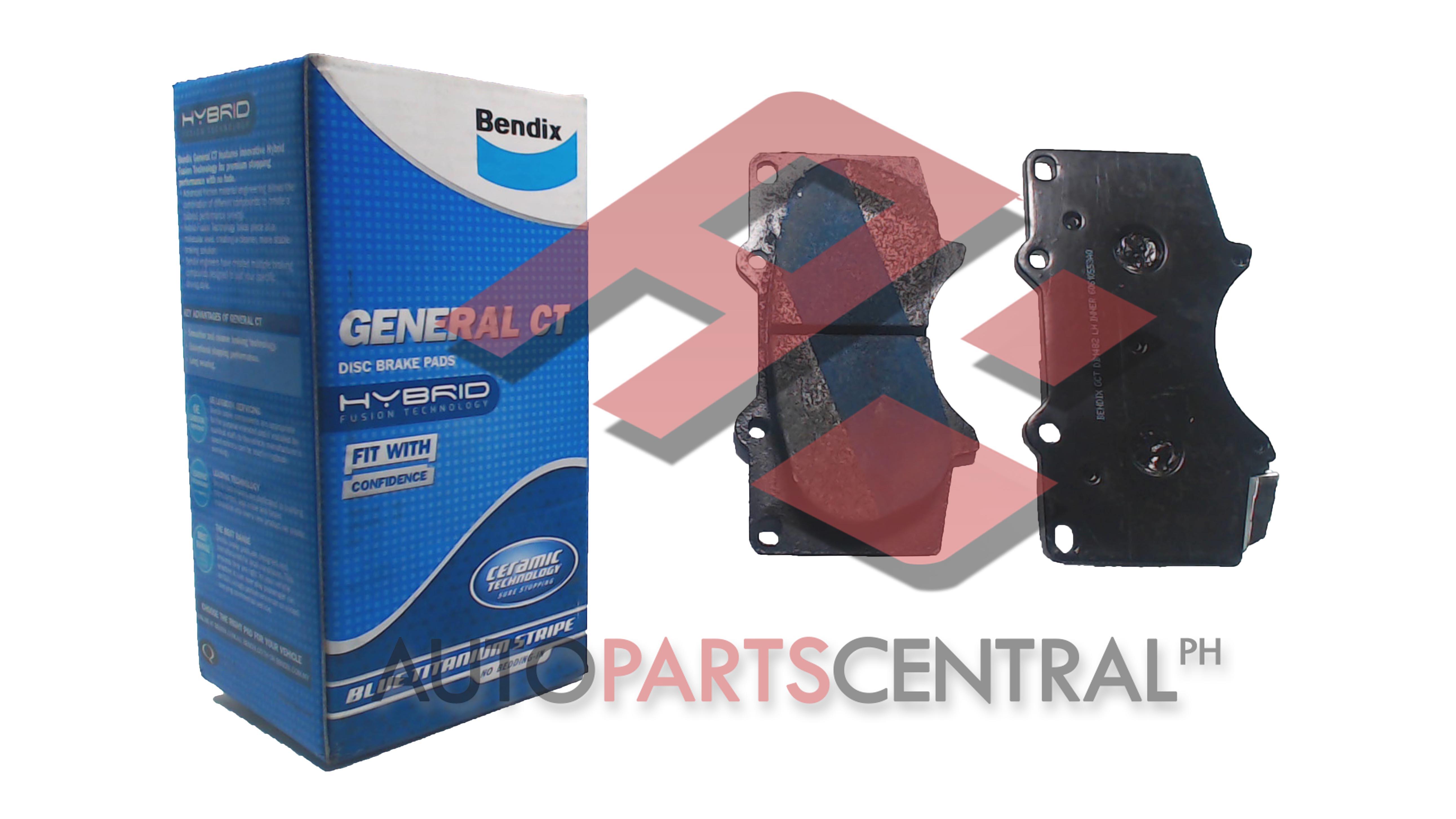 Bendix Db 1482 Gct Brake Pads Autopartscentralph Toyota Fortuner Fuse Box Location