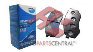 Bendix DB 1141 GCT Front Brake Pads Toyota Hi-Lux Cressida Mitsubishi Canter