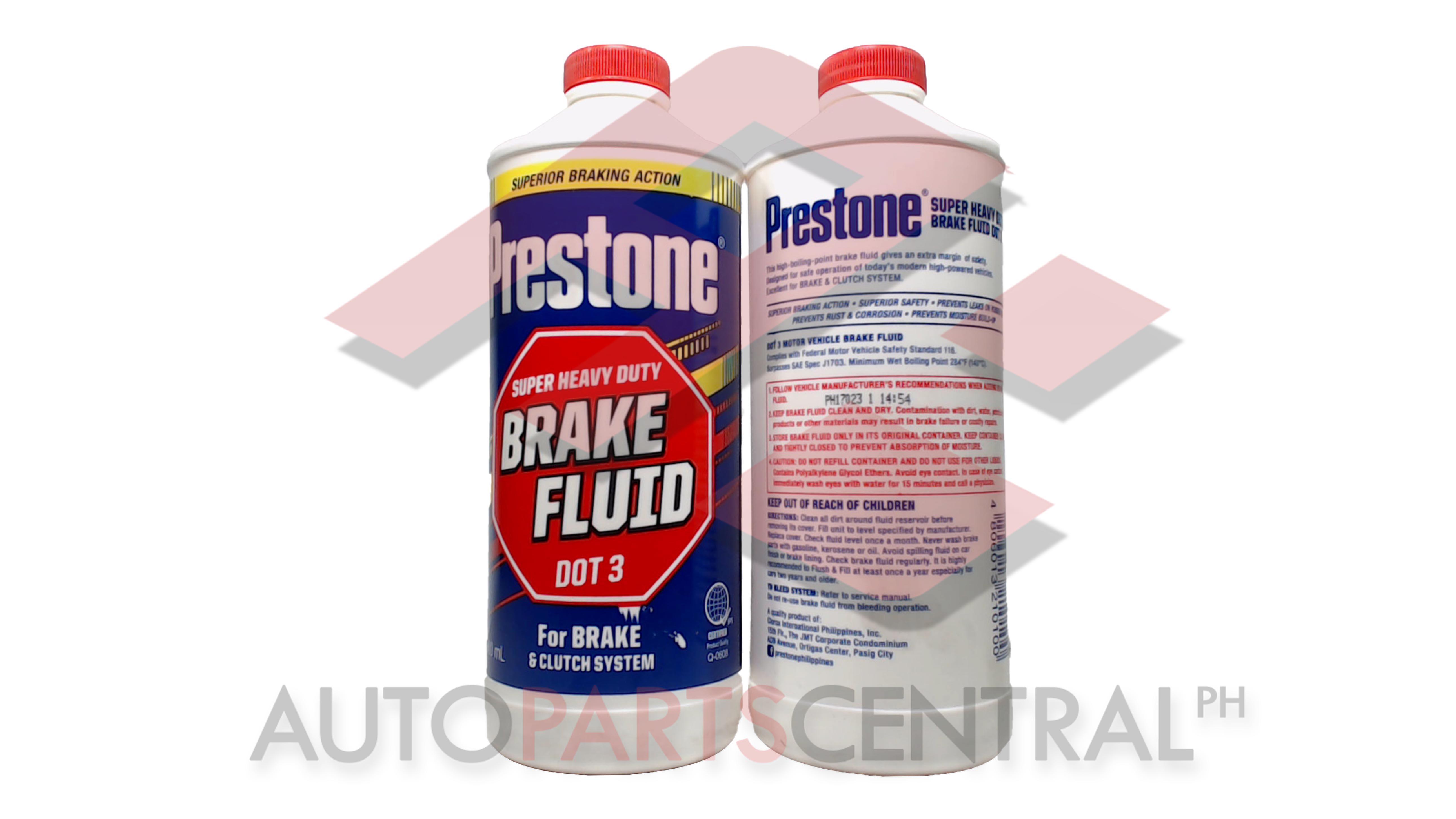 Prestone Super Heavy Duty Brake Fluid Dot 3 900ml
