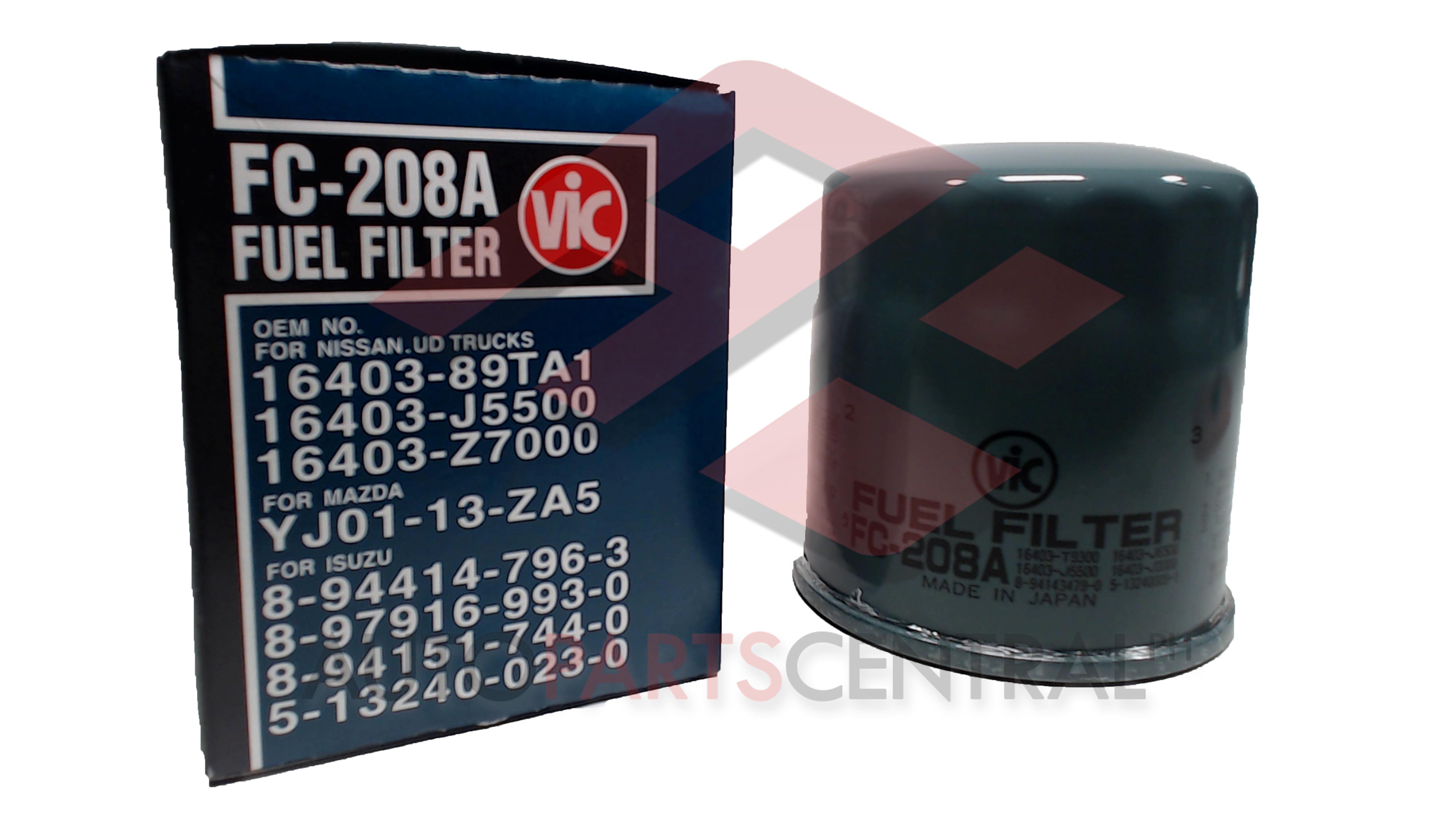 Fuel Filter Vic Fc208a Isuzu 4ba1 Autopartscentralph 2006 Mazda 3