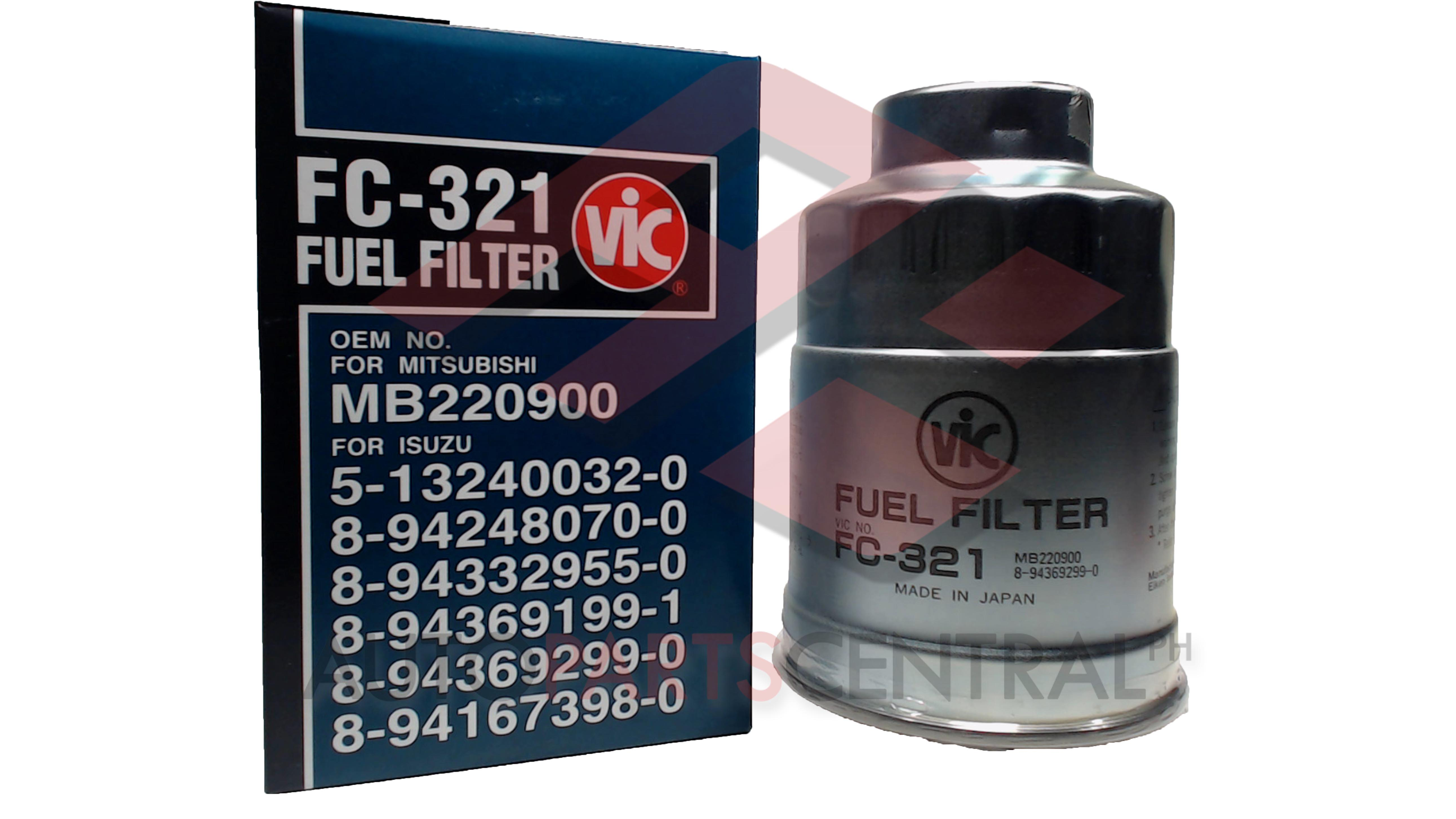 Fuel Filter Vic Fc 321 Mitsubishi 4d56 Isuzu 4jb1 Autopartscentralph Mercedes Benz Filters