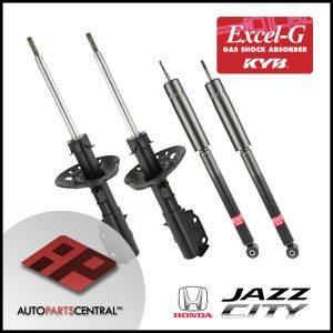 KYB Excel-G Front & Rear Set Honda City Jazz 2009-2012 338001 338002 348016